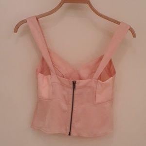Ballerina pink silky tank